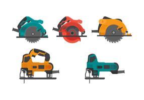 Coleção colorida de vetores de ferramentas pneumáticas