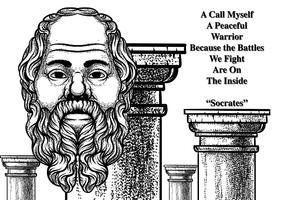 Sokrates bakgrundsvektor