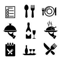 Vecteur d'icône à manger