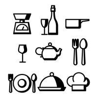 Vector de icono de comedor