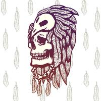 Shaman Skull Illustration