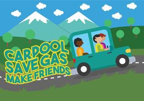 Ilustración de vector de carpool