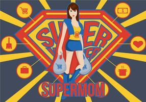 Super Mom Illustration.
