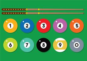 9 Ball vector set