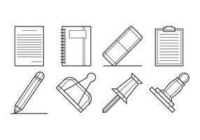 Jeu d'icônes de fournitures de papier gratuit