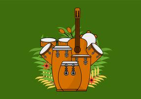 Conga Acoustic Drum  vector