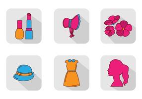Conjunto de vetores de ícones da mulher