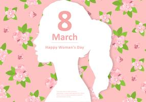 Vector floral do dia da mulher