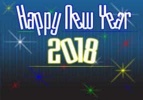 Frohes neues Jahr 2018 Vector