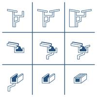 Roof Gutter Icon Set