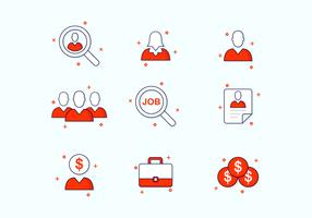 Job Search Icon Set