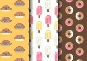 Free Cute Sweets Patterns vector