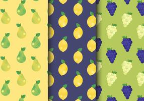 Free Cute Fruit Patterns vector