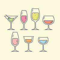 Kostenlose alkoholische Getränke Vektor