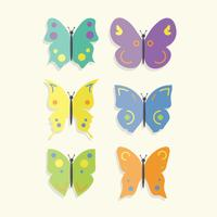 Free Colorful Butterflies Vector