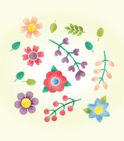 Vector de flores texturizadas gratis