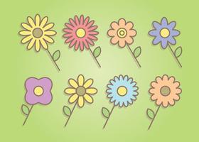 Kostenlose bunte Blumen Vector
