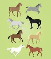 Vector libre corriendo caballos