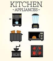 Vecteur gratuit d'appareils de cuisine