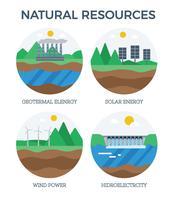 Vector de energía de recursos naturales