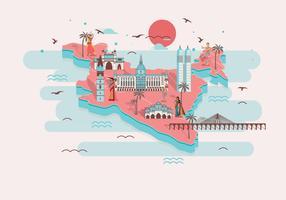 Carte de Mumbai 2 vecteur