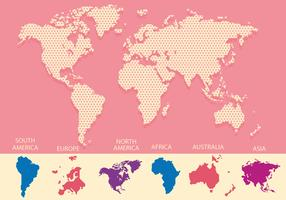 mapa mundi roze achtergrond vector