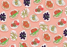 Canapes-pattern-vector