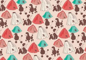 Poodle Skirt Pattern Vector