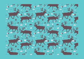 Caribou silhouet patroon Vector
