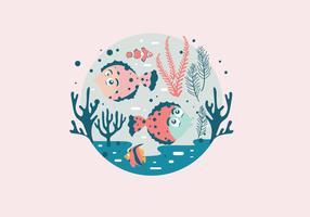 Flounder Scene Vector