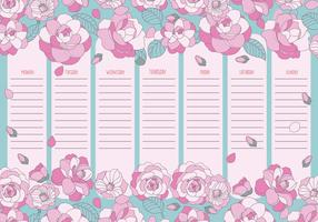 Cute Printable Weekly Calendar Vector