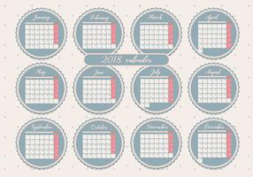 Printable Monthly Calendar Vol 2 Vecteur