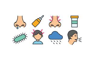 Sinusitis icon pack