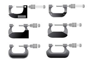 Mikrometer-Messgerät-Vektoren