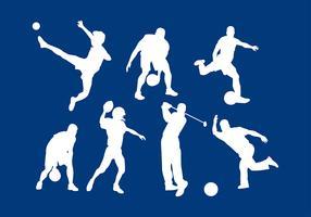 Vecteur gratuit de sport siluetas