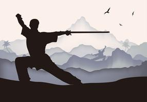 Vector libre de la espada de Wushu