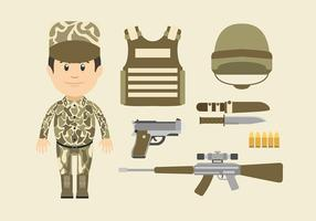 Navy Seal Cartoon Character vecteur libre