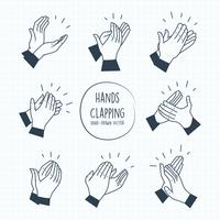 Mains Clapping Vectors