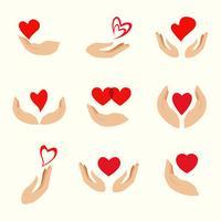 Vecteur de guérison des mains Logo