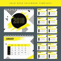 Calendario imprimible 2018 Vector