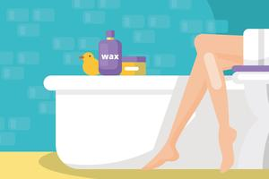 Waxing Illustration
