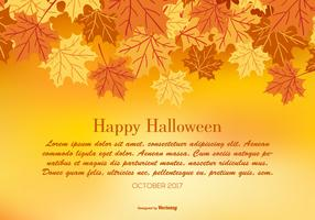 Happy Halloween Autumn Illustration