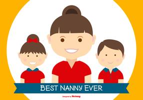Best Nanny in the World Illustration  vector