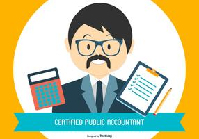 CPA - Certified Public Accountant Illustration