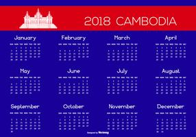 2018 Cambodia Calendar Illustration