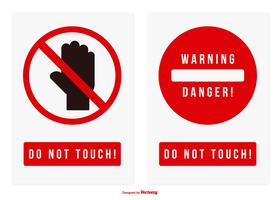 Do Not Touch Vector Sign Collection