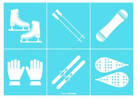 Snow Equipment Icon Collection
