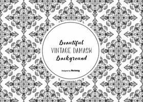 Seamless Vector Damask Pattern Background