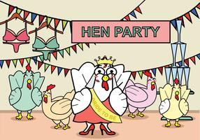 Freie Hen Party Illustration