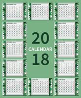 Free Green Printable Calendar Illustration